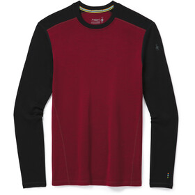 Smartwool Merino 250 Maglietta Girocollo Baselayer Uomo, tibetan red heather/black